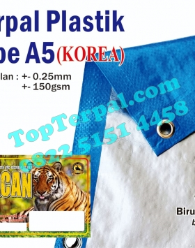 Terpal A5 Korea BiruMuda Silver